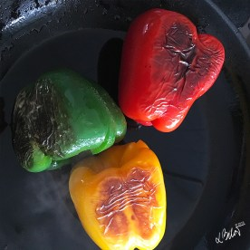 Turn peppers from side to side