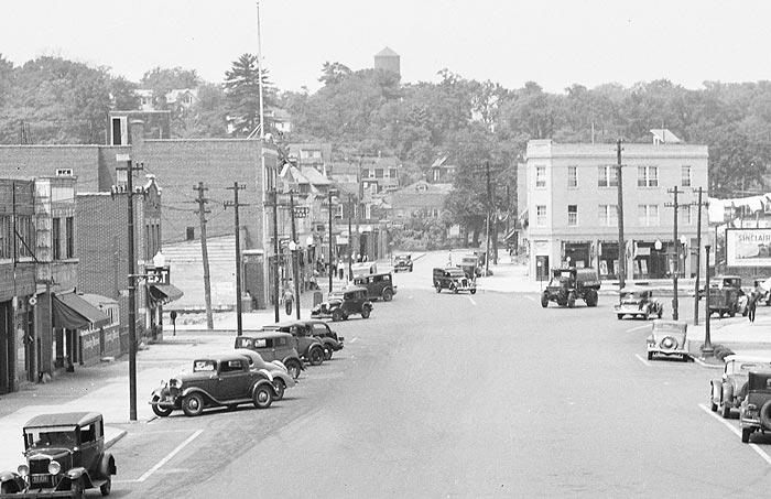 Mamaroneck Avenue circa 1936 – the future home of Bilotta's headquarter showroom to the left.