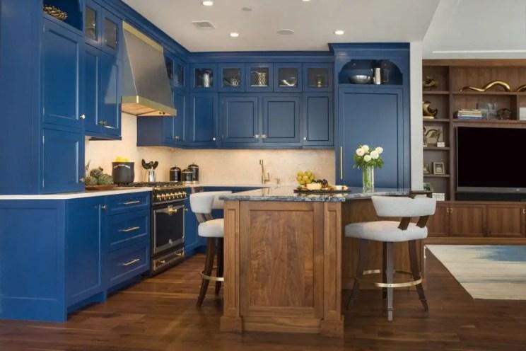 Walnut & Symphony Blue Bilotta Kitchen