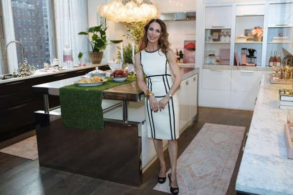 Kate Singer of Kate Singer Home in her Art of the Table kitchen