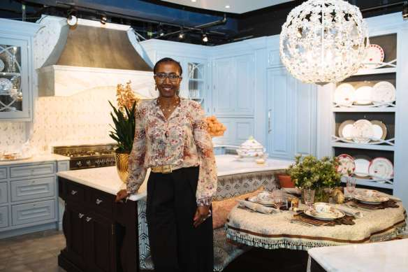 Doreen Chamber of Doreen Chambers Interiors in her Art of the Table kitchen