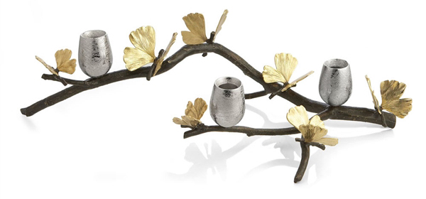 """Michael Aram's """"Gingko Butterfly"""" Candle Holders"""