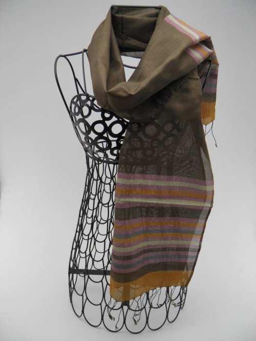 Foulard Essentiel – Ligné Bronze-Argent