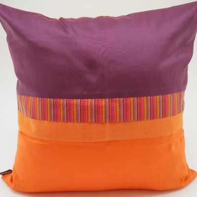 Charming Cushion Cover - Aubergine / Orange - 45x45cm