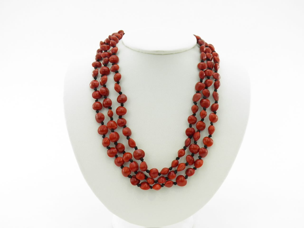 L'infini - Collier graines naturelles - Rouge
