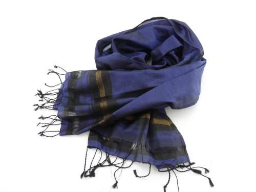 Fair Trade Essential Scarf – Striped Black-Gold