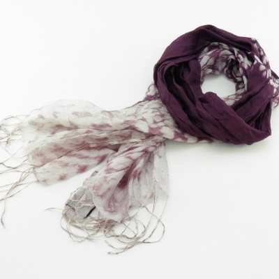 Fair Trade Organza Scarf – Faded Effect On Ends