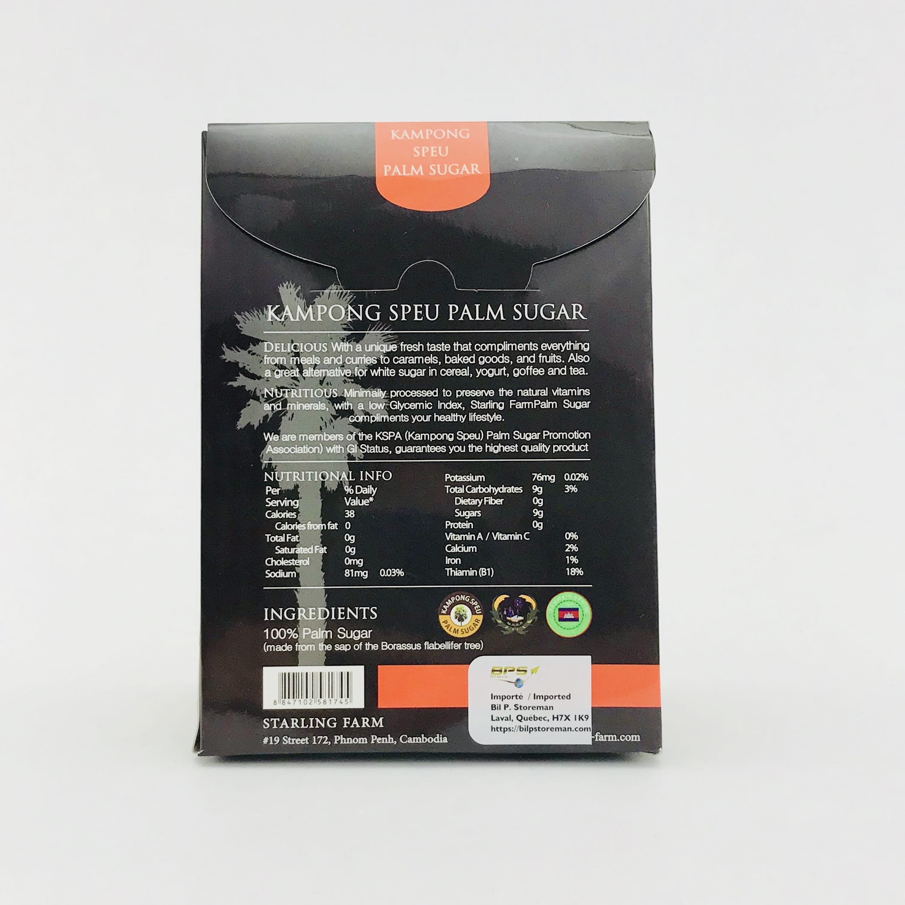 Sucre de fleurs de palmier - Starling Farm - 150g - verso