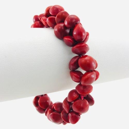 Le Croiser - Bracelet Graines Naturelles - Rouge