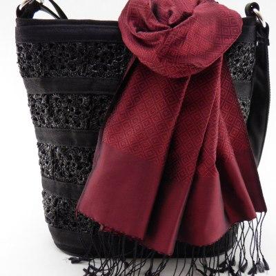 Square Large Black + Lboeuk Dark Red