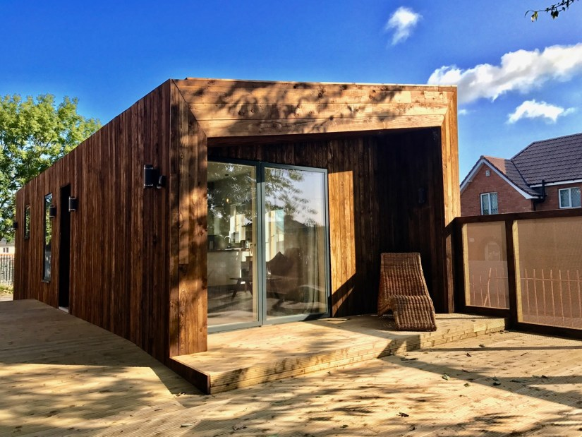 A straw bale house