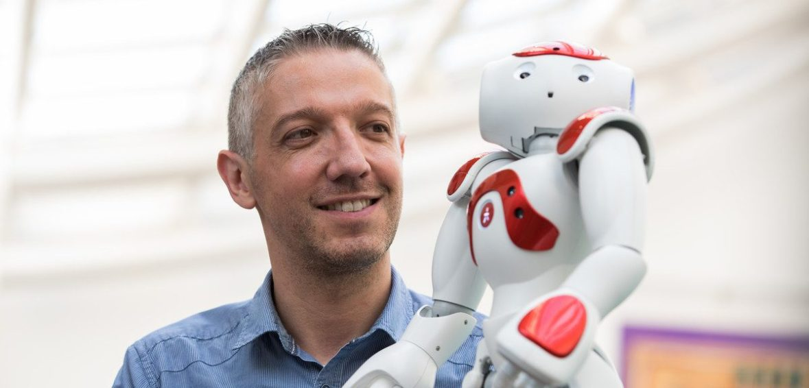 image of francesco fornetti and a robot