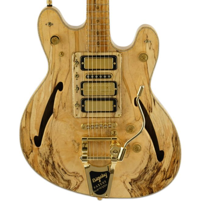 Natural Spalted Maple Volare w/ Effects
