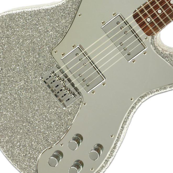 Body Detail, Silver Sparkle ESG & Mirror Pickguard