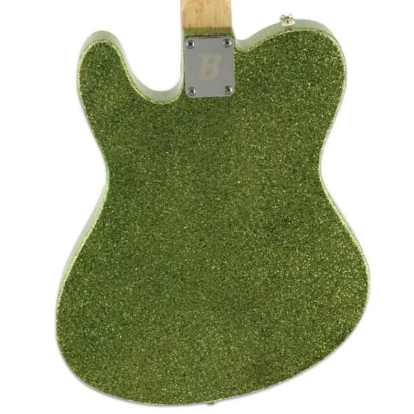 Back Detail, Lime Green Sparkle ESG