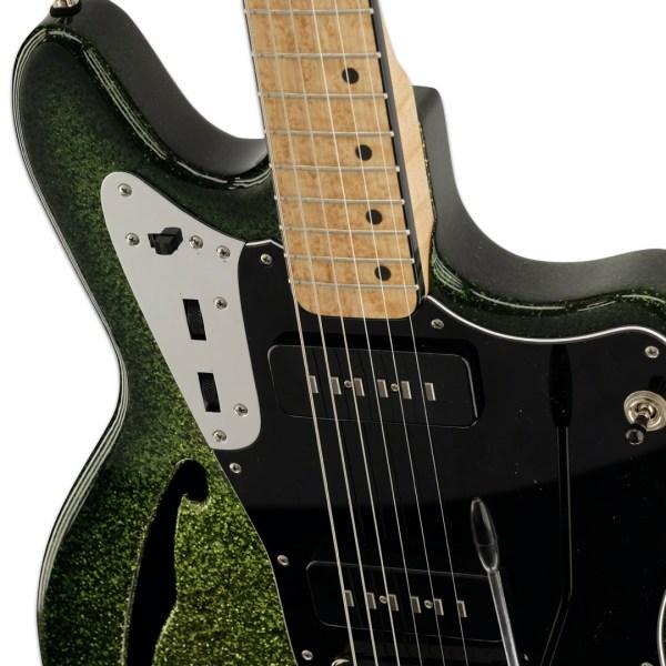 Body Detail, Green Sparkle Burst Zaftig
