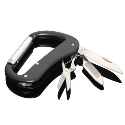 Karabiner Maniküre Pediküre Reise Set Schlüsselanhänger in schwarz