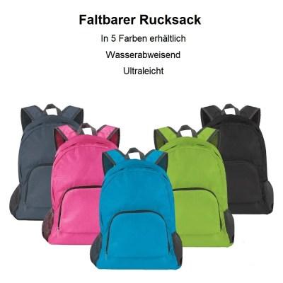 Rucksack faltbar, Sportrucksack, City Bag, Daypack, Reise Rucksack