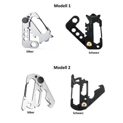 Multitool Schlüsselanhänger, EDC Multifunktions-Karabiner Werkzeug