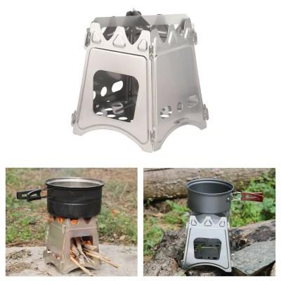 Outdoor Holz Campingkocher Leichter Holzofen Faltbarer Kocher Picknick Grill Notkocher BBQ