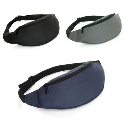 Kleine 2,5L Bauchtasche Gürteltasche Hüfttasche mit 2 Reißverschlussfächern