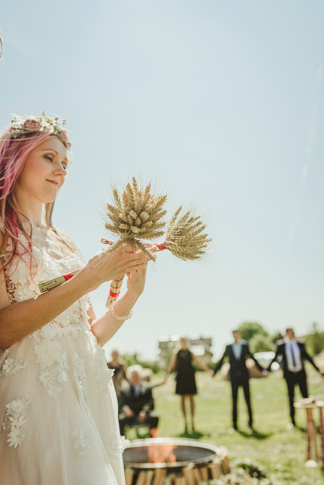 latvian traditional wedding ritual in nīcgale