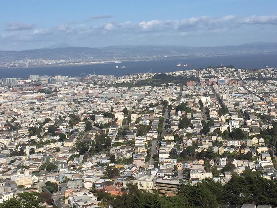Panorama dalle Twin Peaks San Francisco