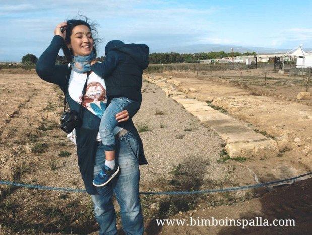 visita al sito di Mont'e Prama a Cabras