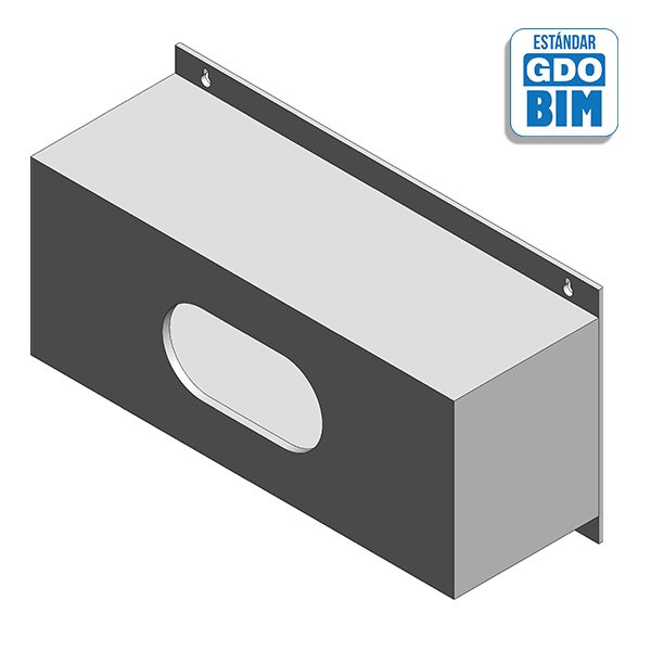 Dispensador de pared para guantes modelo rectangular