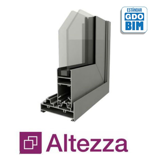 Puerta Corrediza 2 Hojas Alzante New-x ALTEZZA - aluar