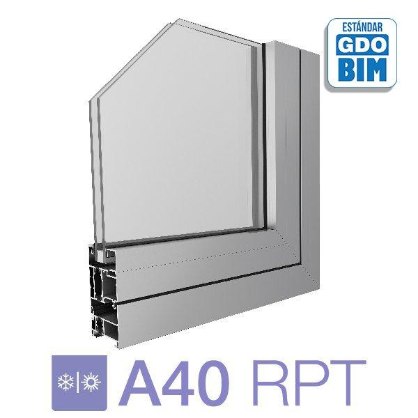 Ventana A40 RPT Desplazable - aluar