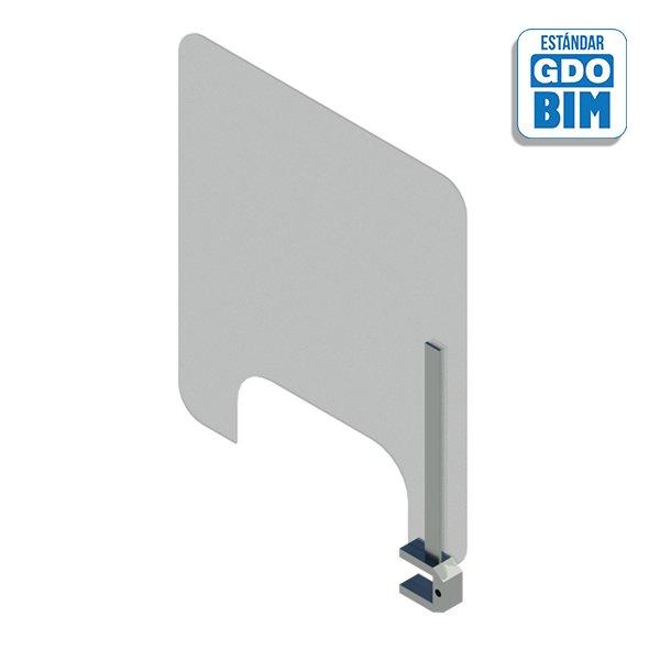 Separador de sobremesa giratorio con ventana - anti COVID19