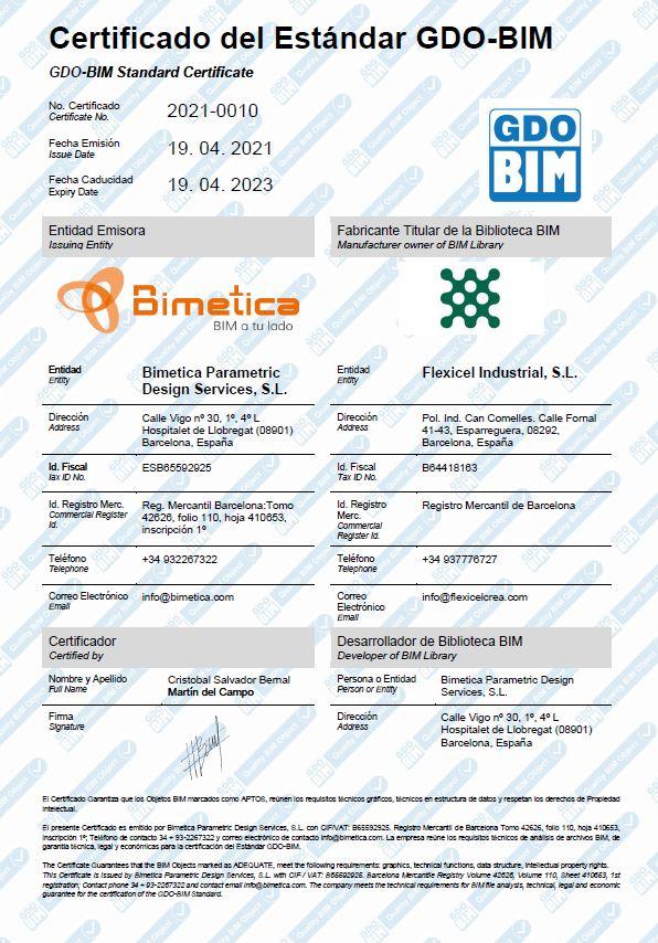 Certificado GDO BIM Flexicel
