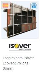 Imagen Objeto BIM Isover Lana mineral Isover Ecovent VN 032 60mm