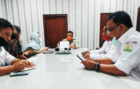 Penanganan Pengungsi Rohingya Di Aceh, BPBA Terima Kunjungan PMI