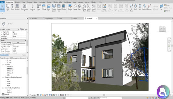How to create a rendered 2D floor plan in Revit