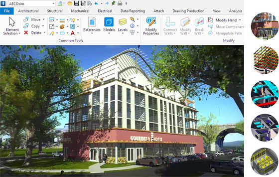 AECOsim Building Designer CONNECT Edition is the best BIM Modeling Software on the market