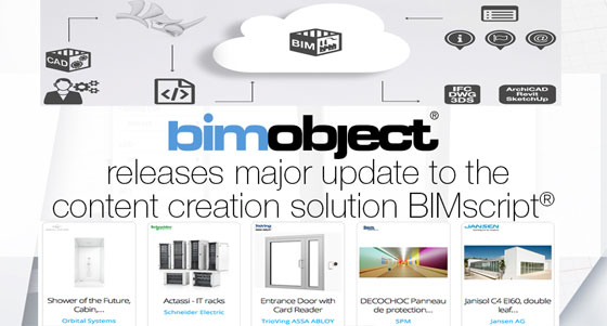 New updates are available for BIMscript, the exclusive content creation solution by BIMobject