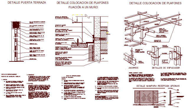 Download construction details of ceiling available in .dwg format