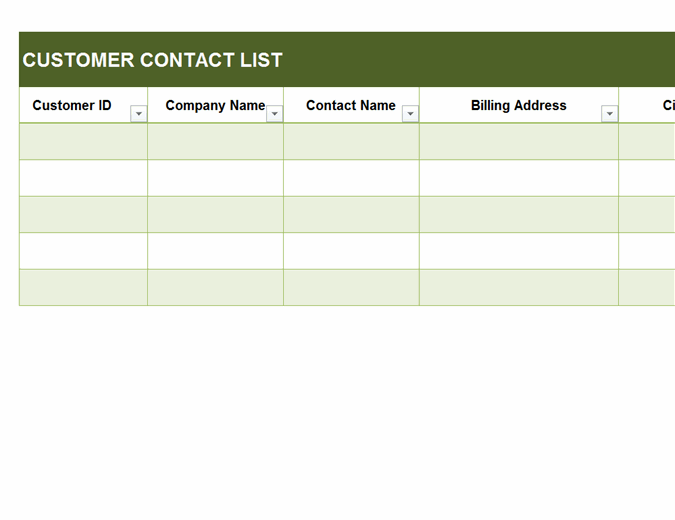 Whether to be saved in a contact list database for a company or a club or as an emergency call list in an apartment. Small Business Contact List