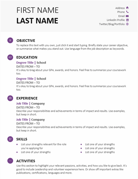 Do you need a resume for a college interview?. Student Resume Modern Design