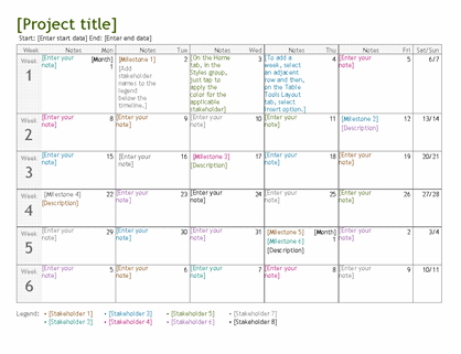 Just enter the project start date, type team members' names, and add their assignments to the project calendar. Project Planning Timeline