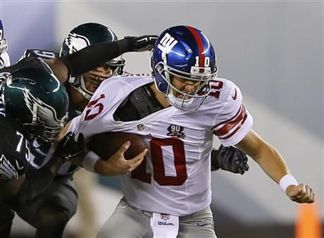 Eli Manning, Connor Barwin, Vinny Curry