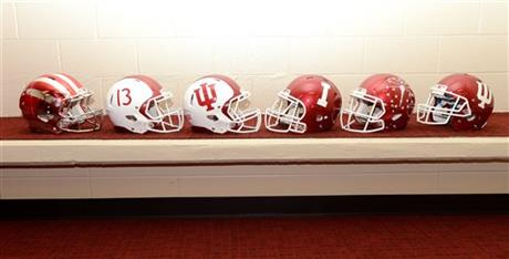 New IU football helmets for the 2013 season