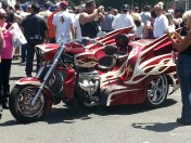 A tricked out trike.