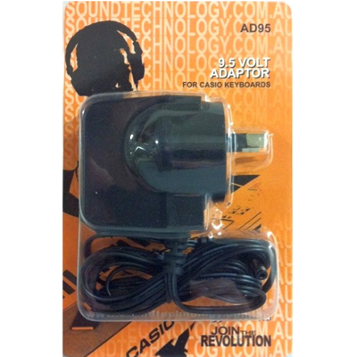 AD95 Power Adapter 9.5 Volt for Casio Keyboards