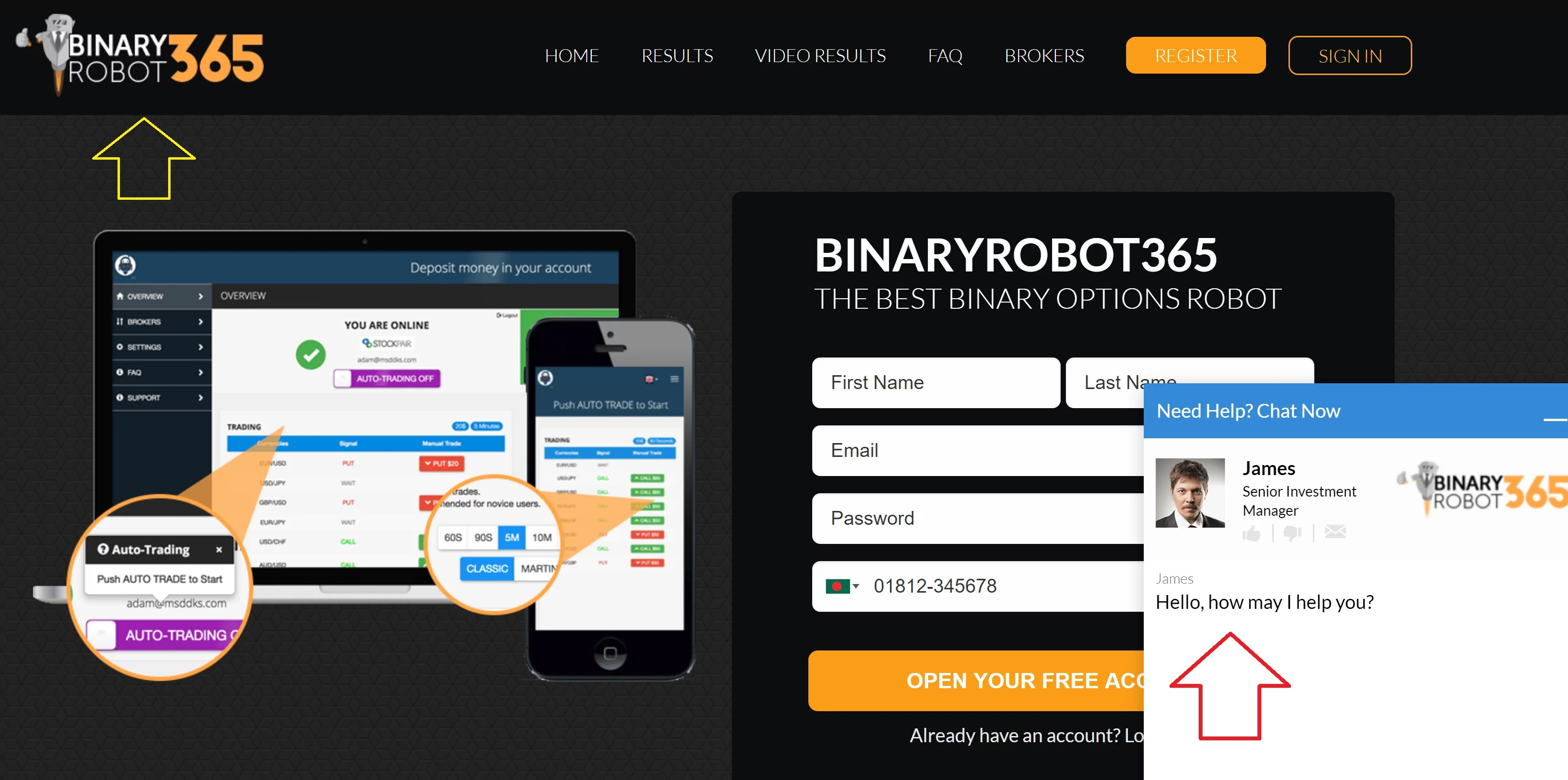 Robot Binaire Opties Auto - Binary Robot