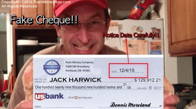 fake cheque
