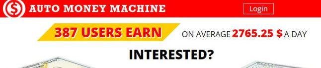 auto money machine scam