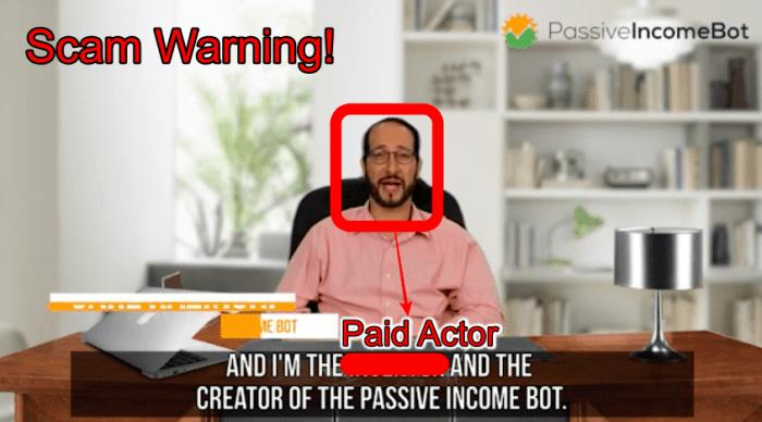 passive income bot scam